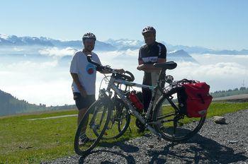 Flugrad und Bergziegenmutant auf dem Rigi