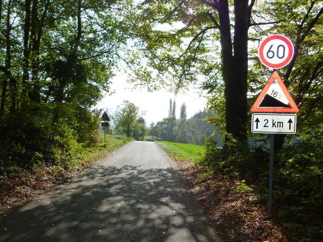 Ende der Auffahrt von der Guggenmühle