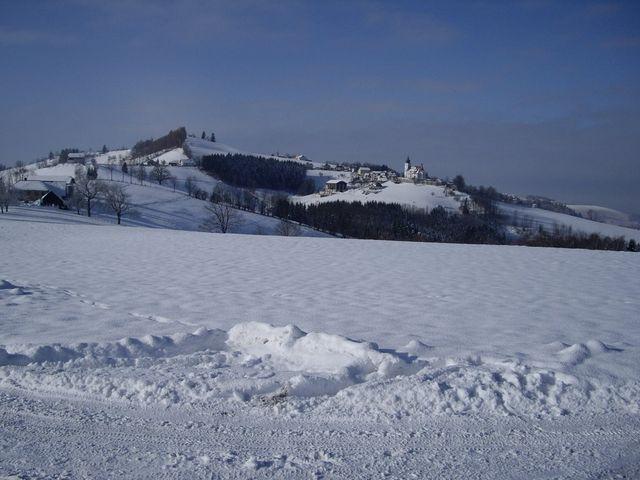 Winterblick auf St. Leonhard/Walde