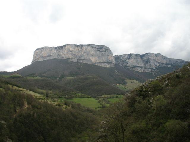 Typische Vercors-Landschaft vom Petit Goulets...