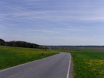 Blick nach S Richtung Bauland.