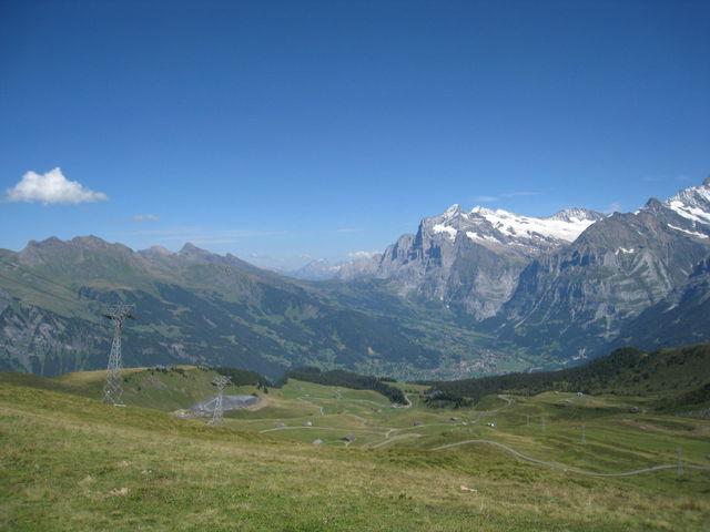 Blick vom Männlichen zur Großen Scheidegg