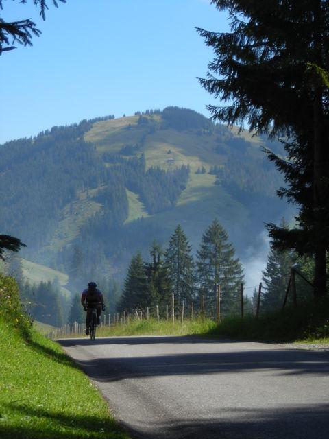 Hier ist der Radfahrer meist allein.