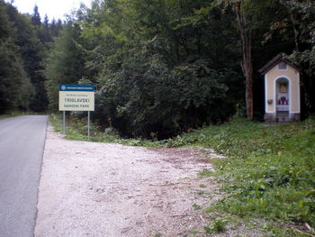 Grenze zum Triglav Nationalpark.