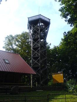 Der knapp 19 m hohe Aussichtsturm