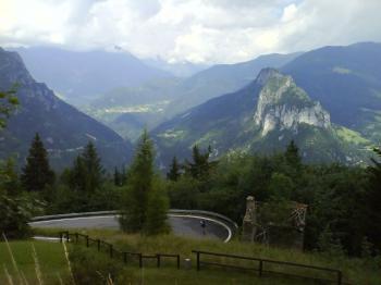 Abfahrt Richtung Dezzo di Scalve, Blick Richtung Vivionepass.