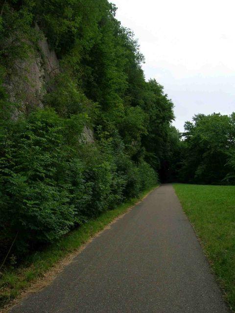 Die ehemalige Bahnlinie auf den Traifelberg.
