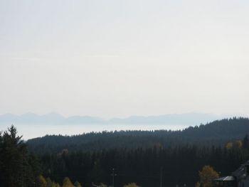 Die Alpen ragen über dem Nebelmeer auf.