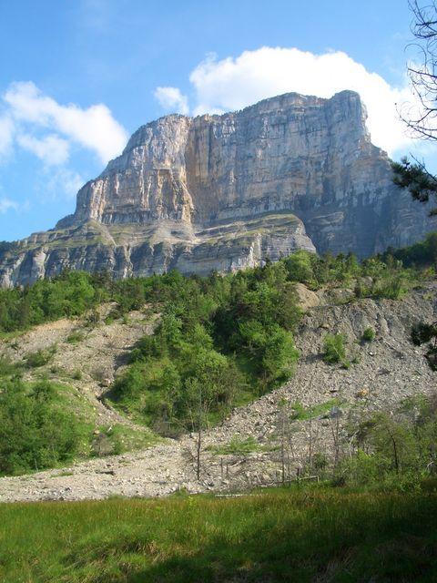 Mont Granier als Abschluss des Hauptkamms