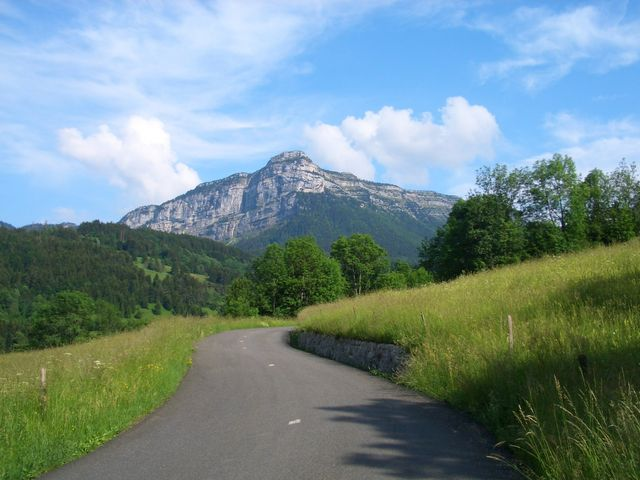 Col de la Cluse in der Ostanfahrt