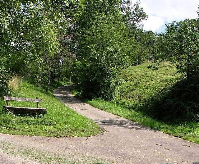 Steilstück am Galgenbuckel.