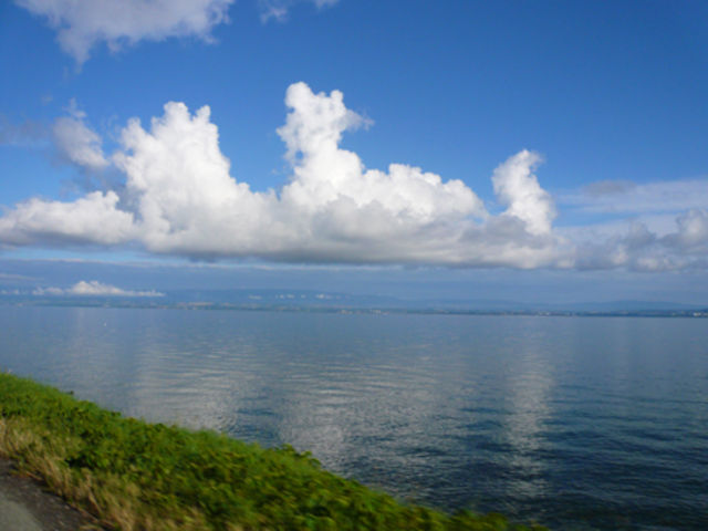 Genfer See + skurile  Wolkenformation