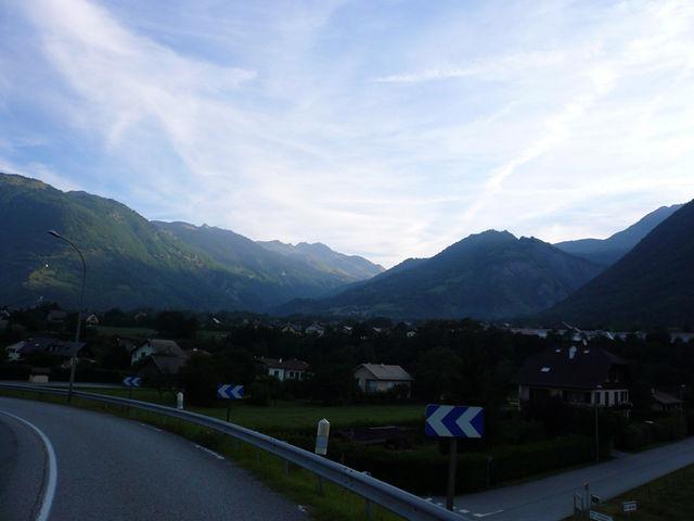 Blick nach rechts zum Col de la Madeleine