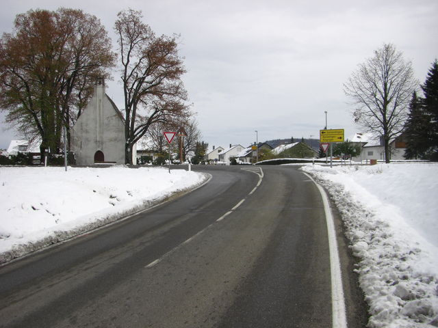 Das Ende der Auffahrt in Ringingen.