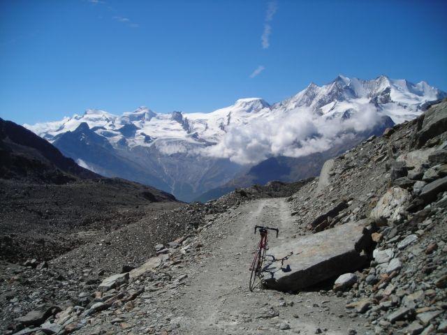 Blick vom höchsten Punkt auf 2860 m.