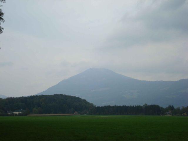 Das Ziel - die nebelverhangene Gaisbergspitze