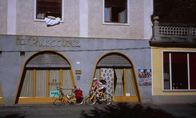 Unser einfaches Quartier bei Tirano.