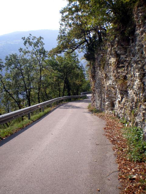 Abfahrt am Westhang des Col del Gallo.