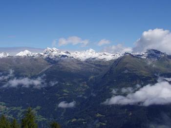 Blick von der Hochsteinhütte.