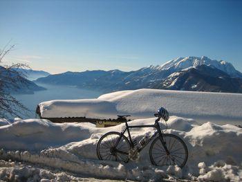 01 üppiger Schnee oberhalb von Monte Bre, 11.01.2009