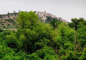 Dauphin liegt auf einem schmalen Felsriegel