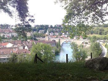 Ein Blick auf Bern und die Innenstadt von Südeh her
