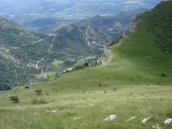 Col de la Chaudière Südseite.