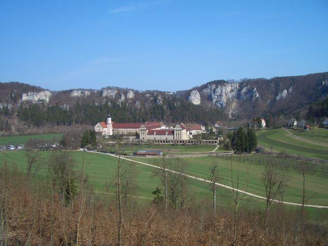 Blick zum Kloster Beuron