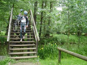 Leichte Räder haben auch im flachen Spreewald ihre Vorzüge.