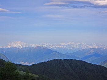 Monte Rosa, davor Gridone, Lago Maggiore und Brissago, Alpe del Gesero doppio, 24.06.09