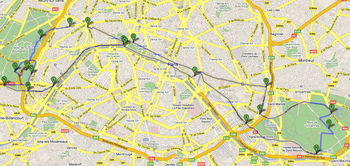 Strecke Marathon Paris