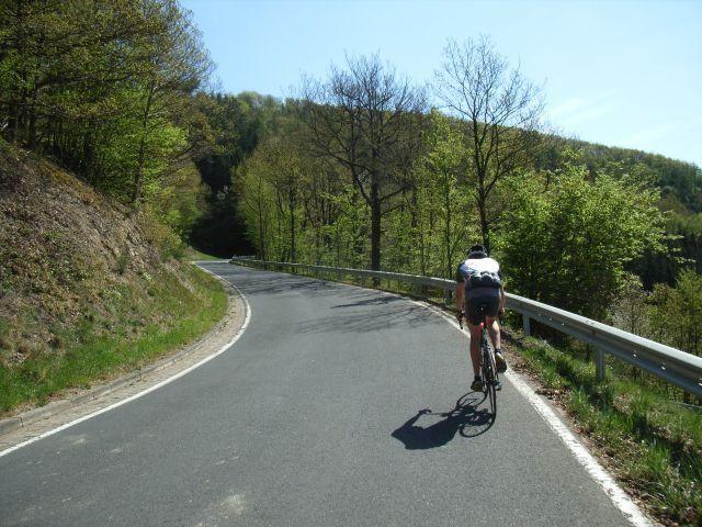 Die schöne Strecke führt größtenteils durch Wald.