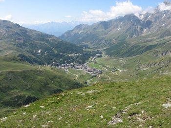 Blick auf Breuil-Cervinia.