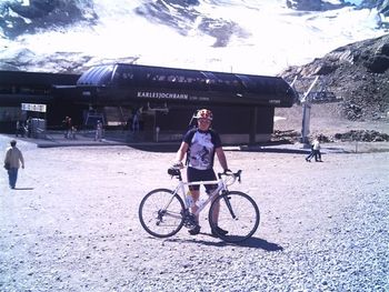 Am Ziel des Tages am Kaunertaler Gletscher auf 2.750Metern.
