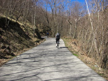 In der Auffahrt zum Passo della Forcella.