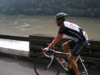 Entlang der Donau.