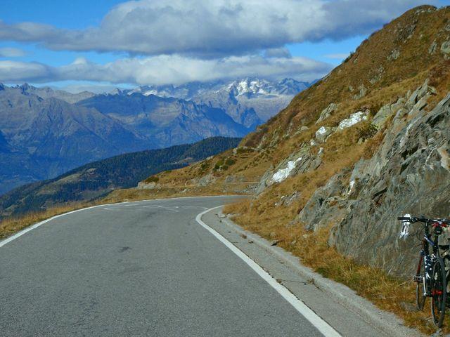 01 Passo di San Marco, mit Blick auf das Bergell, 16.10.09.