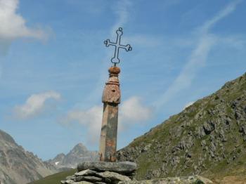 Am Gipfel des Croix de Fer.