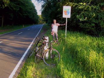 Benni ist an der Grenze zu Bayern angekommen...