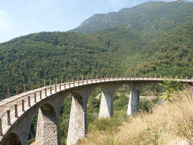 Eisenbahnbrücke.