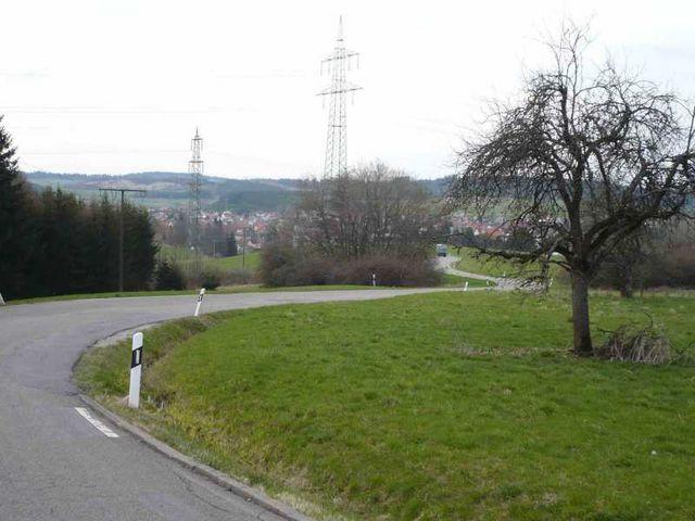Wassersteige im unteren Bereich mit Blick nach Wilflingen.