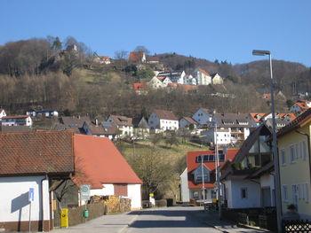 Der Schloßberg von Osternohe aus gesehen.