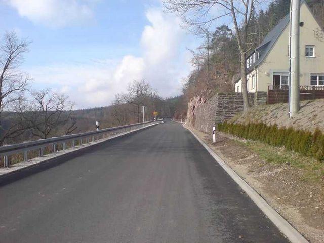 Ortsausgang Schwarzburg.
