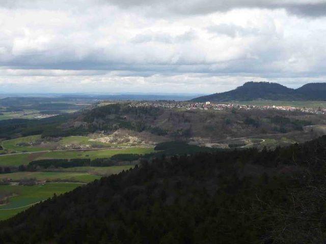 Klippeneck, Blick nach Gosheim.