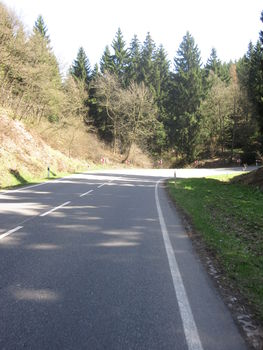 Bundesstraßen-Serpentine.