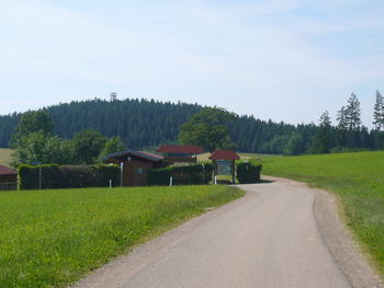 Hünersedel mit Turm hinter dem Dürrhöfen Pass.