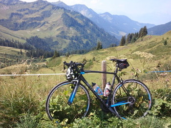 Der erste richtige Pass mit meinem Rennrad, wenn man den Pfänderrücken mal ausklammert.  Ich bin begeistert !