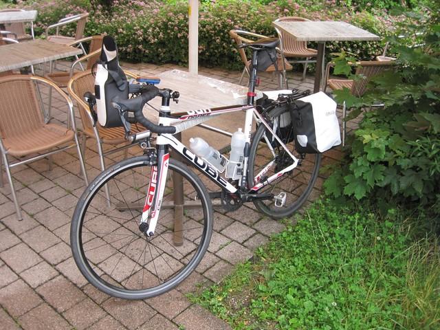 Start in Mittenwald - die Räder sind gepackt!