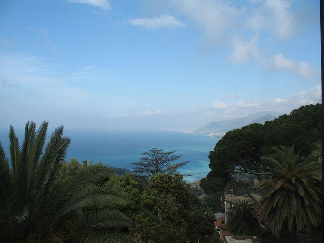 Blick auf den  Golf von Genua...