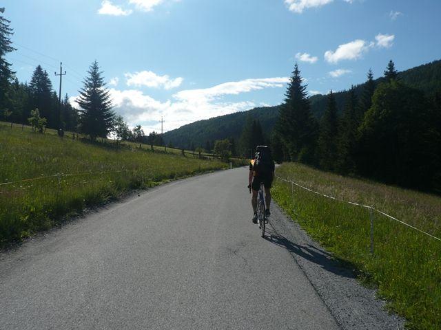 Auffahrt zum Hocheggersattel